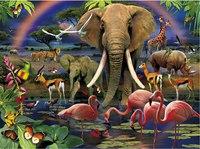 """Пазл """"африка"""", 1000 элементов + очки с 3d эффектом, Clementoni"""