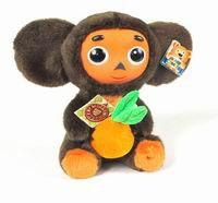"""Мягкая игрушка """"чебурашка с апельсином"""", 17 см, Мульти-Пульти"""