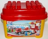 """Конструктор для малышей """"пожарная станция с машиной"""" (39 деталей), COGO"""
