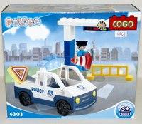 """Конструктор для малышей """"полиция"""" (14 деталей), COGO"""