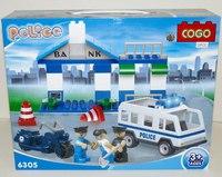"""Конструктор для малышей """"полиция"""" (36 деталей), COGO"""