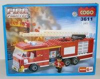 """Конструктор """"пожарная машина"""" (209 деталей), COGO"""