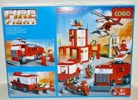 """Конструктор """"пожарная станция"""" (1067 деталей), COGO"""