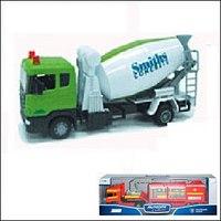 """Машинка """"scania mixer"""". бетономешалка (зелёная), Autotime"""