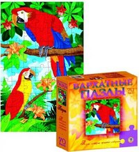 Бархатные пазлы. попугаи (70 элементов), Дрофа-Медиа