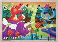 """Мои первые пазлы """"динозавры"""" (24 элемента), Melissa & Doug"""
