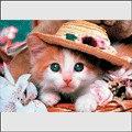 """Пазлы 100 элементов """"щенки и котята на природе"""" (котенок в шляпе, щенки на лужайке, щенок с цветами, таксы на природе), Канц-Эксмо (Listoff, Unnika Land)"""