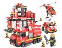 """Конструктор """"пожарные спасатели"""", 693 детали, SLUBAN"""
