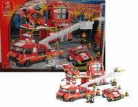 """Конструктор """"пожарная техника с фигурками и аксессуарами"""", 727 деталей, SLUBAN"""