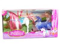 """Игровой набор """"карета с лошадью и куклой"""", Китай"""