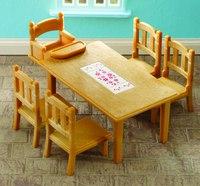 """Игровой набор """"обеденный стол с 5 стульями"""", Sylvanian Families"""