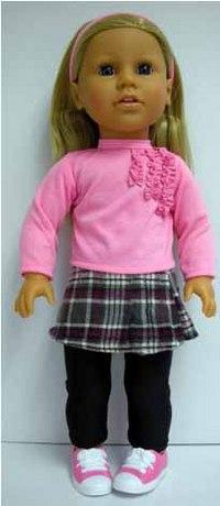 Кукла-блондинка в розовой кофточке, 45 см, Lotus Onda
