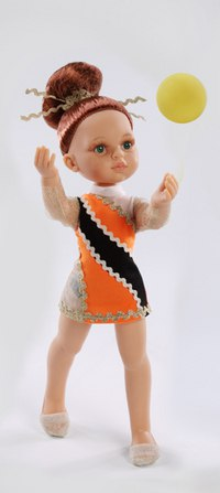 """Кукла """"гимнастка"""" в оранжевом платье, Paola Reina"""