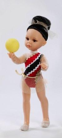 """Кукла """"гимнастка"""" в красном платье (32 см), Paola Reina"""