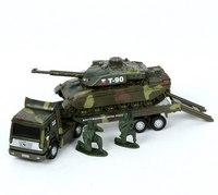 """Машина """""""". военная на прицепе с танком, Технопарк"""