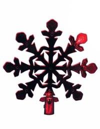 "Новогодний наконечник на елку ""снежинка"" (21 см), Snowmen"