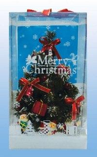 . новогодняя ель со светооптическим волокном, 21 см (е70437), Snowmen