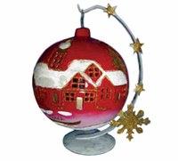 Новогодний подсвечник - шар (красный), Snowmen
