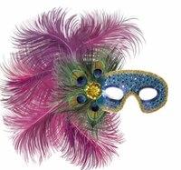 Карнавальная маска с перьями павлина, Snowmen