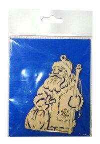 Украшение из шпона «дед мороз с подарками», Караван-СТ