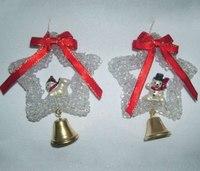 """Новогодняя подвеска """"звезда с колокольчиком"""", Snowmen"""