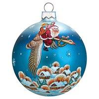 "Коллекционный шар ""дед мороз на гусе"", Mister Christmas"