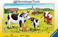 """Пазл """"коровы на лугу"""", 15 элементов, Ravensburger"""