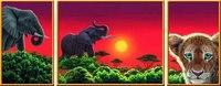 """Пазл-триптих """"африканские животные"""", 1000 элементов, Ravensburger"""