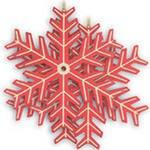 """Набор новогодних подвесок """"снежинка"""", Mister Christmas"""