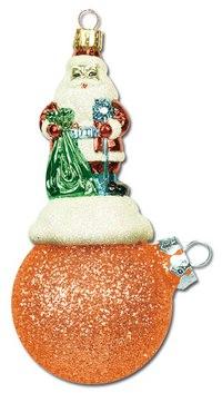 """Новогодняя подвеска """"дед мороз на шаре"""", Mister Christmas"""