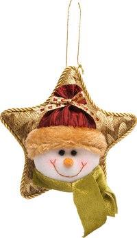 "Подвеска - звезда ""снеговик"", Mister Christmas"