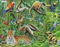 """Пазл """"южно-американские тропики"""", 69 элементов, Larsen (игрушки)"""