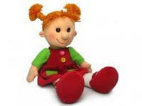 "Кукла ""майя"" в сарафане с карманами, музыкальная (28 см), Lava"