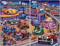 """Пазл """"машины"""" (по 15 деталей), Larsen (игрушки)"""
