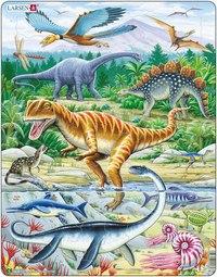 """Пазл """"динозавры"""" (35 элементов), Larsen (игрушки)"""