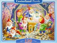 """Пазл-мозаика """"белоснежка и 7 гномов"""" (120 элементов), Castorland"""