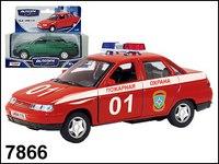 Машинка металлическая лада 2110. пожарная охрана, Autotime