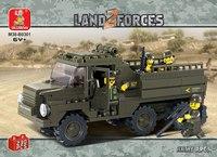 """Конструктор пластиковый """"военный грузовик"""", 230 деталей, SLUBAN"""