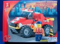 """Конструктор пластиковый """"пожарный мини грузовик"""", 118 деталей, SLUBAN"""