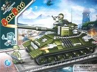 """Конструктор пластиковый """"танк"""", 466 деталей, BanBao"""