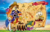 Пазлы 160 элементов. волшебный мир. пират и карта сокровищ, Канц-Эксмо (Listoff, Unnika Land)