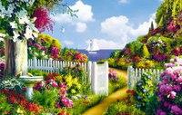 Пазлы 160 элементов. пейзаж. цветущий сад, Канц-Эксмо (Listoff, Unnika Land)