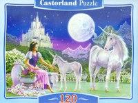 """Пазл-мозаика """"единороги и принцесса"""" (120 элементов), Castorland"""