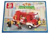 """Конструктор """"пожарная машина с фигурками"""", 175 деталей, SLUBAN"""