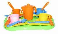 """Набор детской посуды """"анюта"""", с подносом, на 4 персоны, Полесье"""