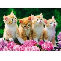 """Пазлы """"в мире животных. четыре котенка"""", 35 элементов, Канц-Эксмо (Listoff, Unnika Land)"""