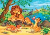 """Пазлы """"волшебный мир. лев и львенок """", 35 элементов, Канц-Эксмо (Listoff, Unnika Land)"""