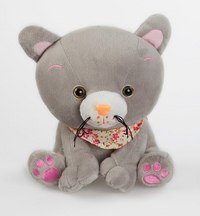 """Котенок """"мяу"""" с платком, озвученный (21 см), Fluffy Family"""