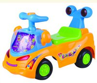 Каталка «веселая машинка», оранжевая (3-6 лет), Chi lok BO toys