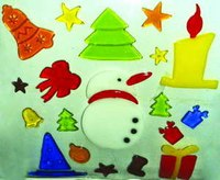 Новогоднее декоративное украшение (гелевая аппликация), Snowmen